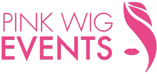 Pink Wig Events logo.